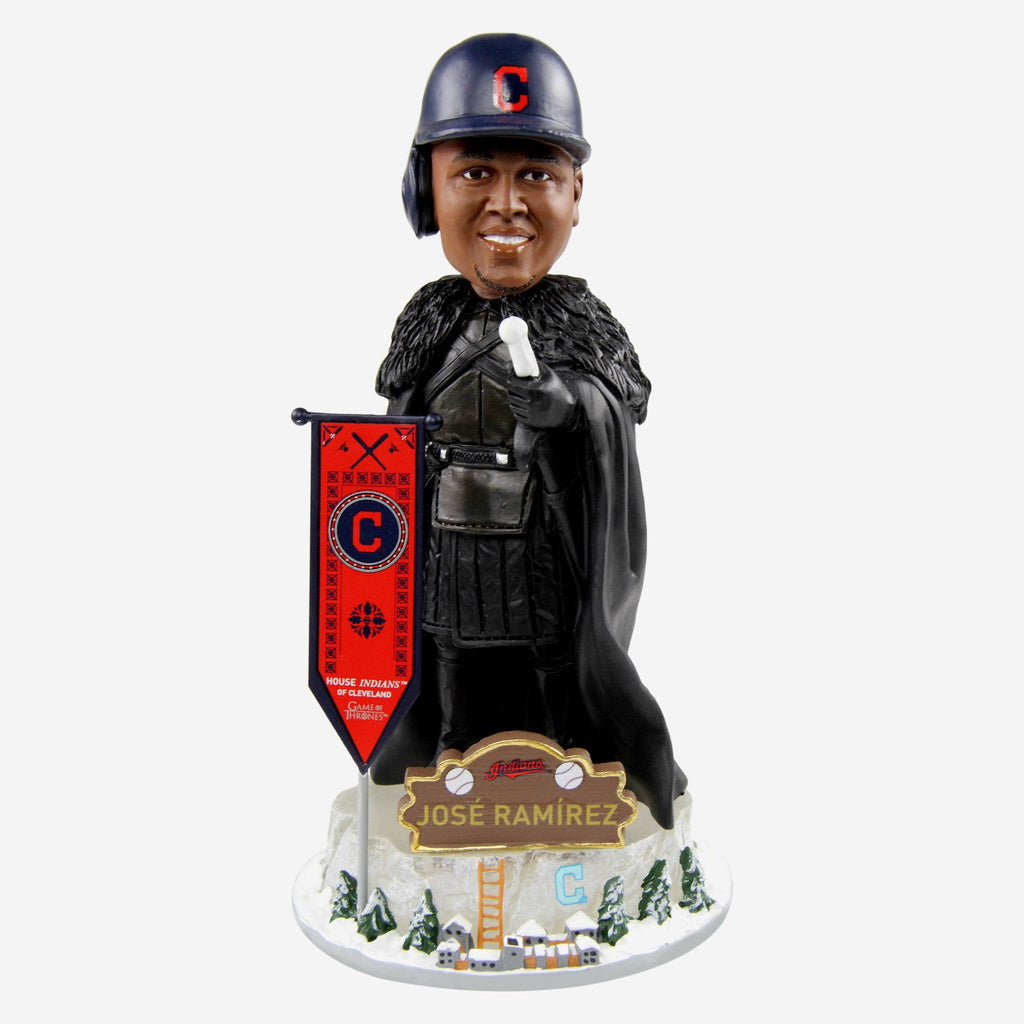 Cleveland Indians Jose Ramirez Game Of Thrones Night's Watch Bobblehead FOCO - FOCO.com