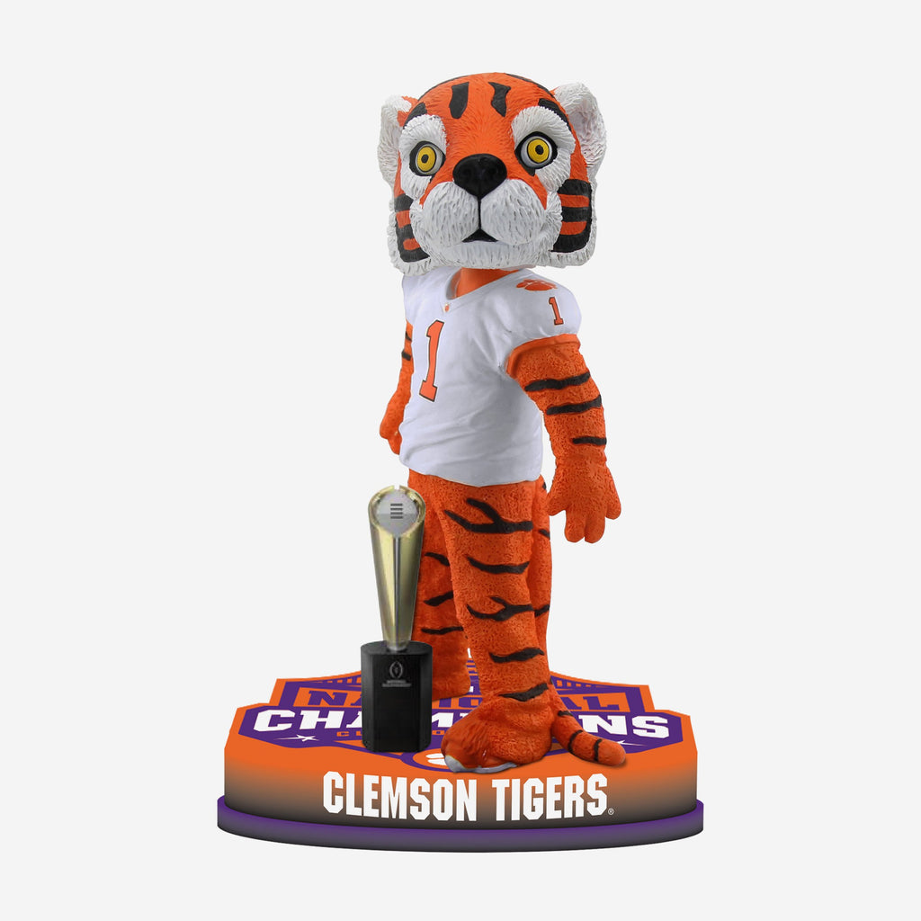 Clemson Tigers 2018 Football National Champions Mascot Base Bobblehead FOCO - FOCO.com