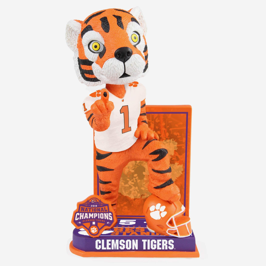 The Tiger Clemson Tigers 2018 Undefeated Mascot Bobblehead FOCO - FOCO.com