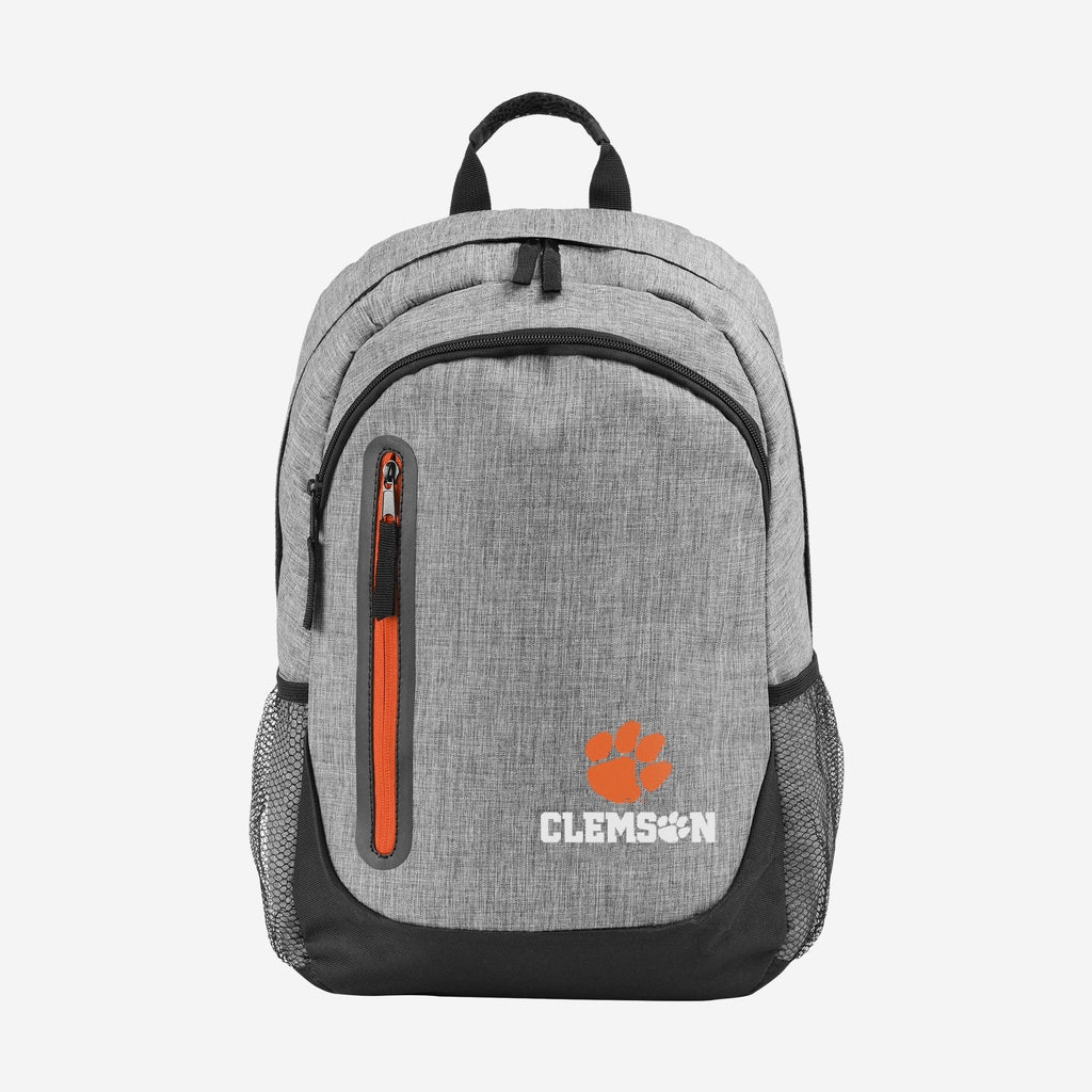Clemson Tigers Heather Grey Bold Color Backpack FOCO - FOCO.com