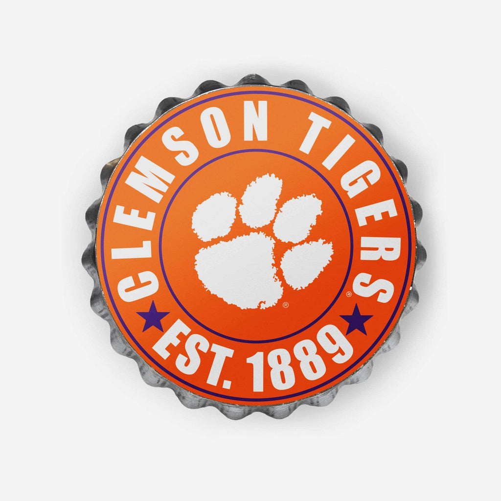 Clemson Tigers Bottle Cap Wall Sign FOCO - FOCO.com