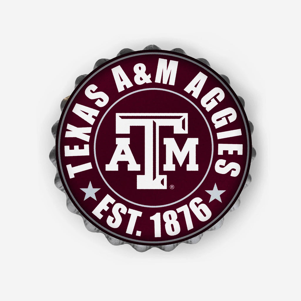 Texas A&M Aggies Bottle Cap Wall Sign FOCO - FOCO.com