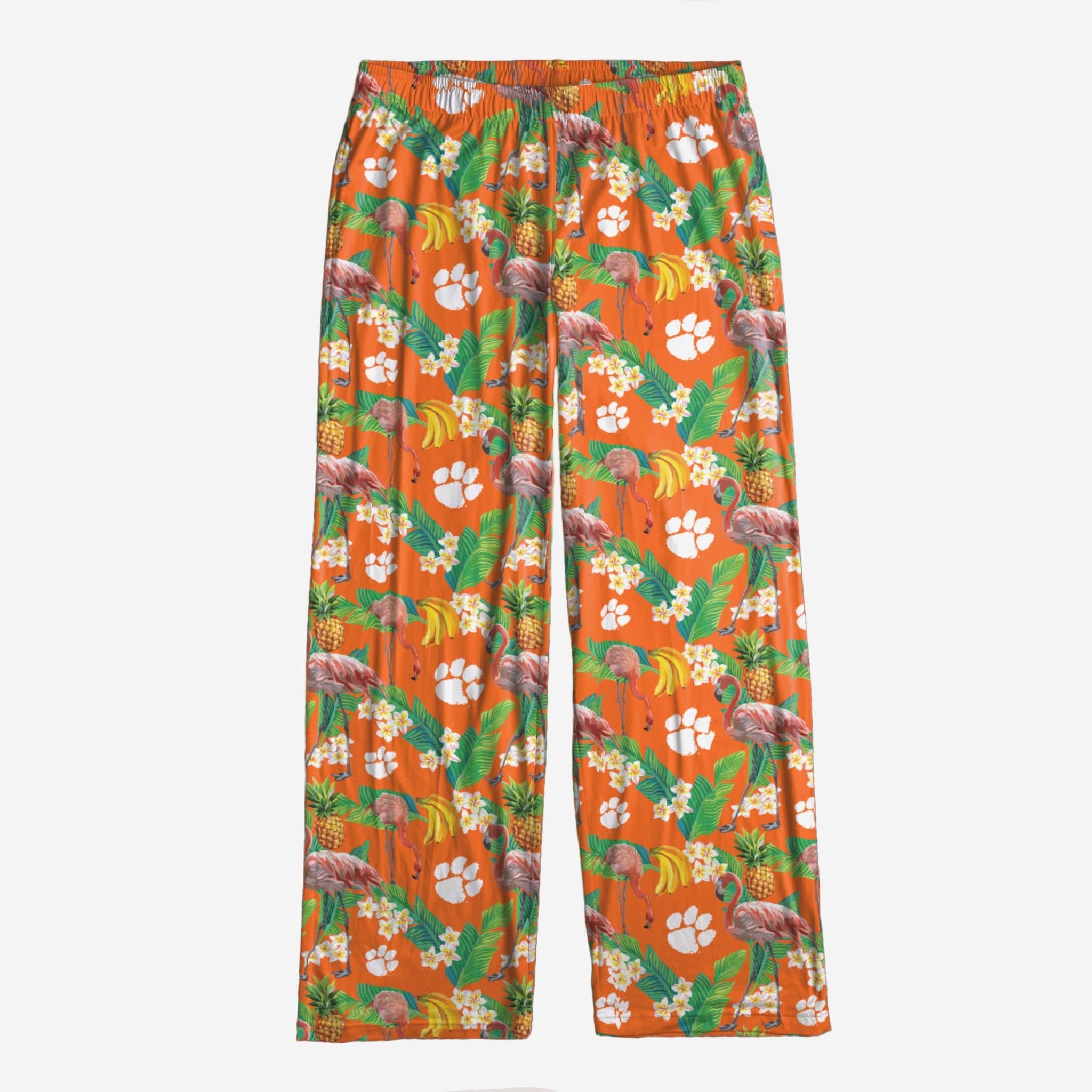 Clemson Tigers Womens Floral Polyester Pant FOCO - FOCO.com