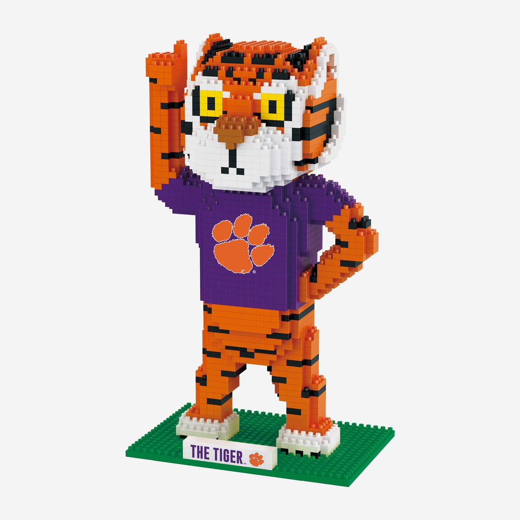 The Tiger Clemson Tigers Thematic BRXLZ Mascot FOCO - FOCO.com