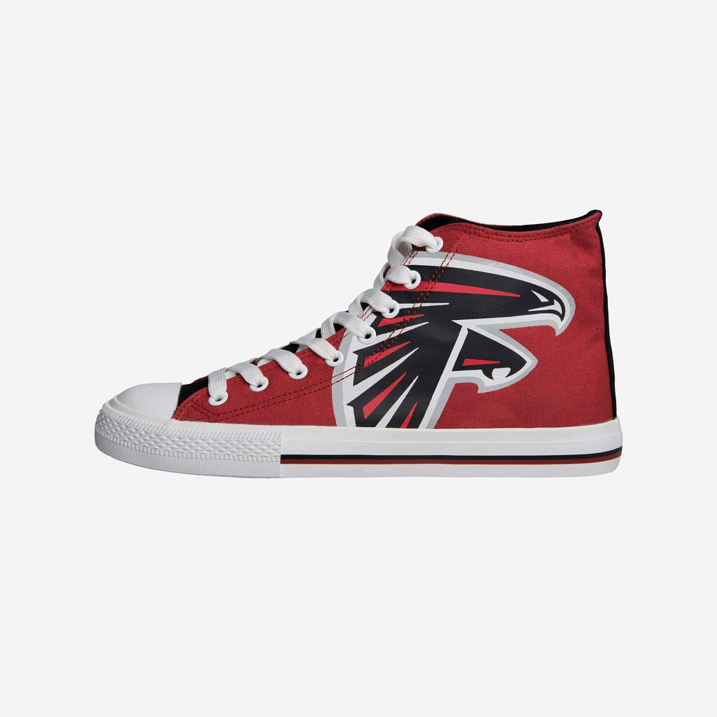 Atlanta Falcons Mens High Top Big Logo Canvas Shoe FOCO - FOCO.com