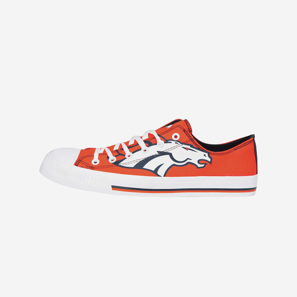Denver Broncos Mens Low Top Big Logo Canvas Shoe FOCO - FOCO.com