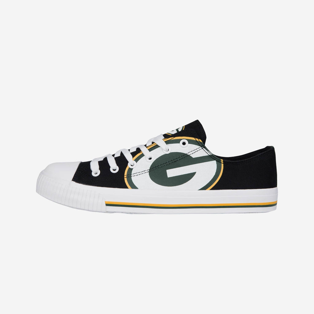 Green Bay Packers Mens Low Top Big Logo Canvas Shoe
