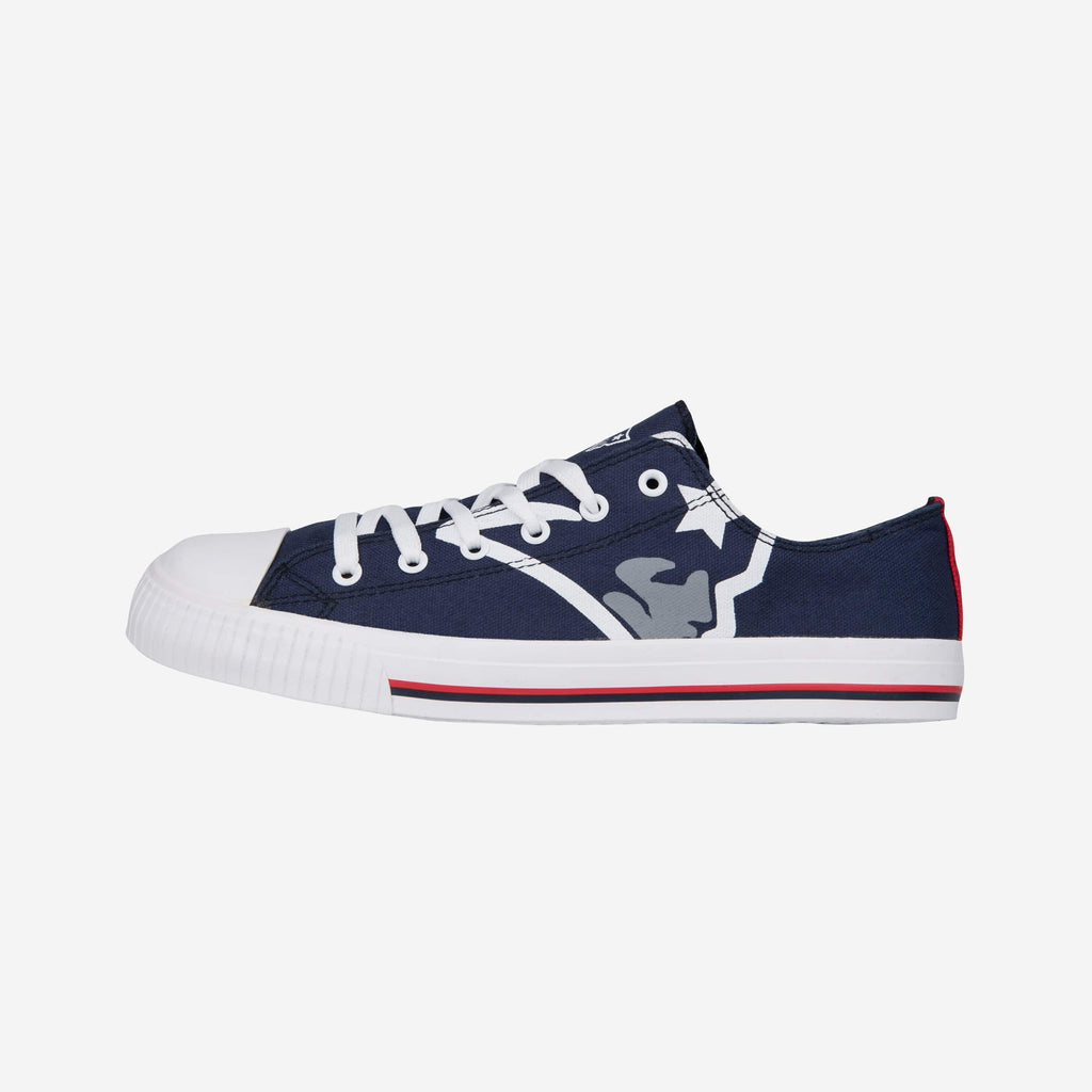 New England Patriots Mens Low Top Big Logo Canvas Shoe