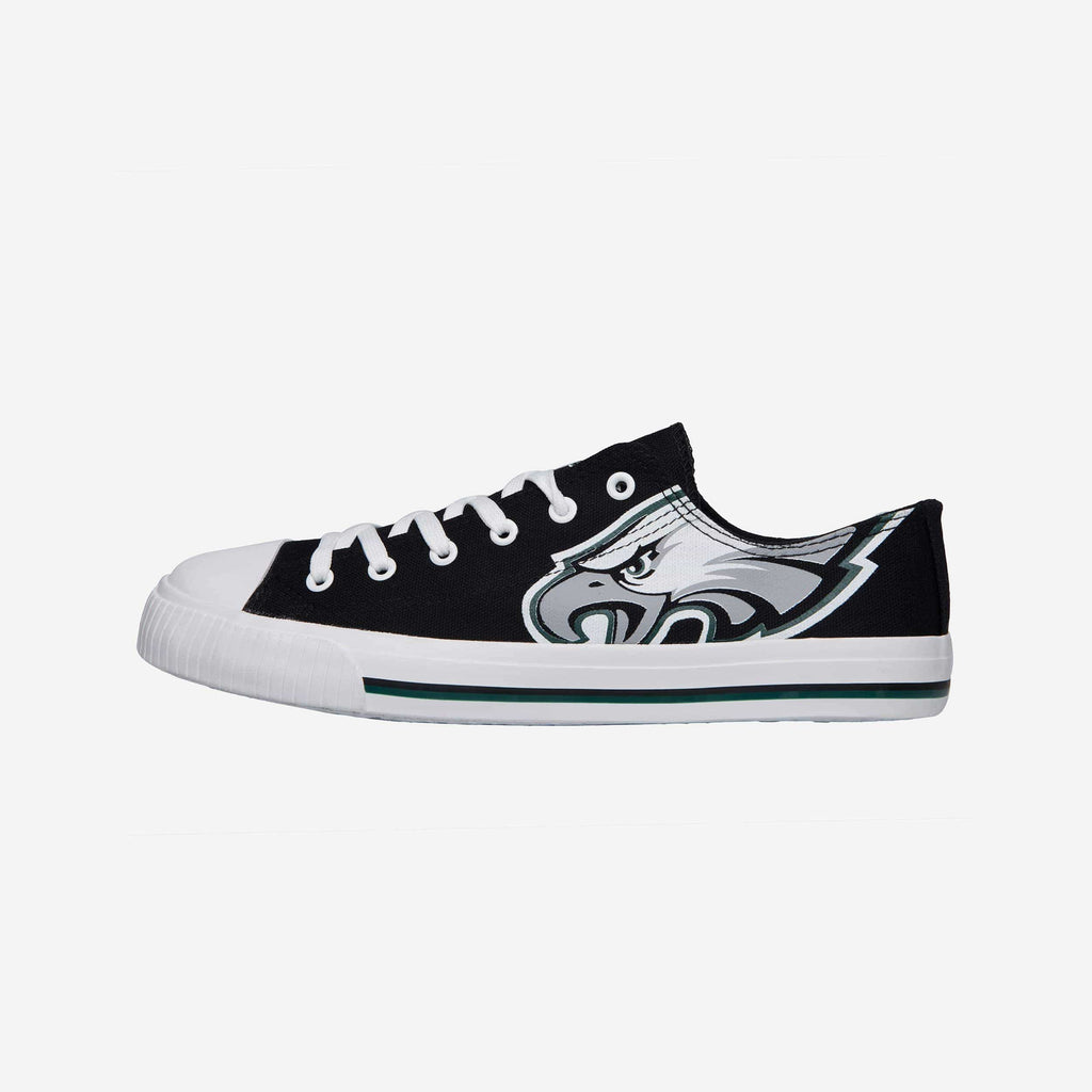 Philadelphia Eagles Mens Low Top Big Logo Canvas Shoe FOCO - FOCO.com