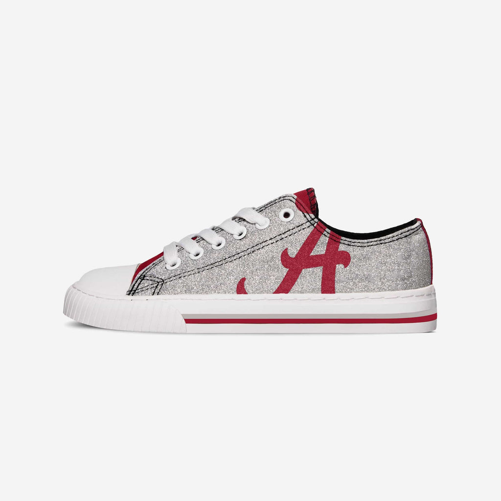 Alabama Crimson Tide Womens Glitter Low Top Canvas Shoe