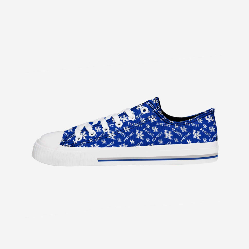 Kentucky Wildcats Womens Low Top Repeat Print Canvas Shoe