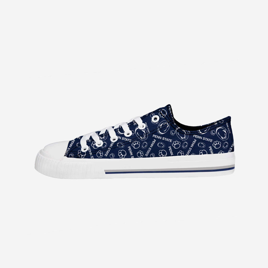 Penn State Nittany Lions Womens Low Top Repeat Print Canvas Shoe