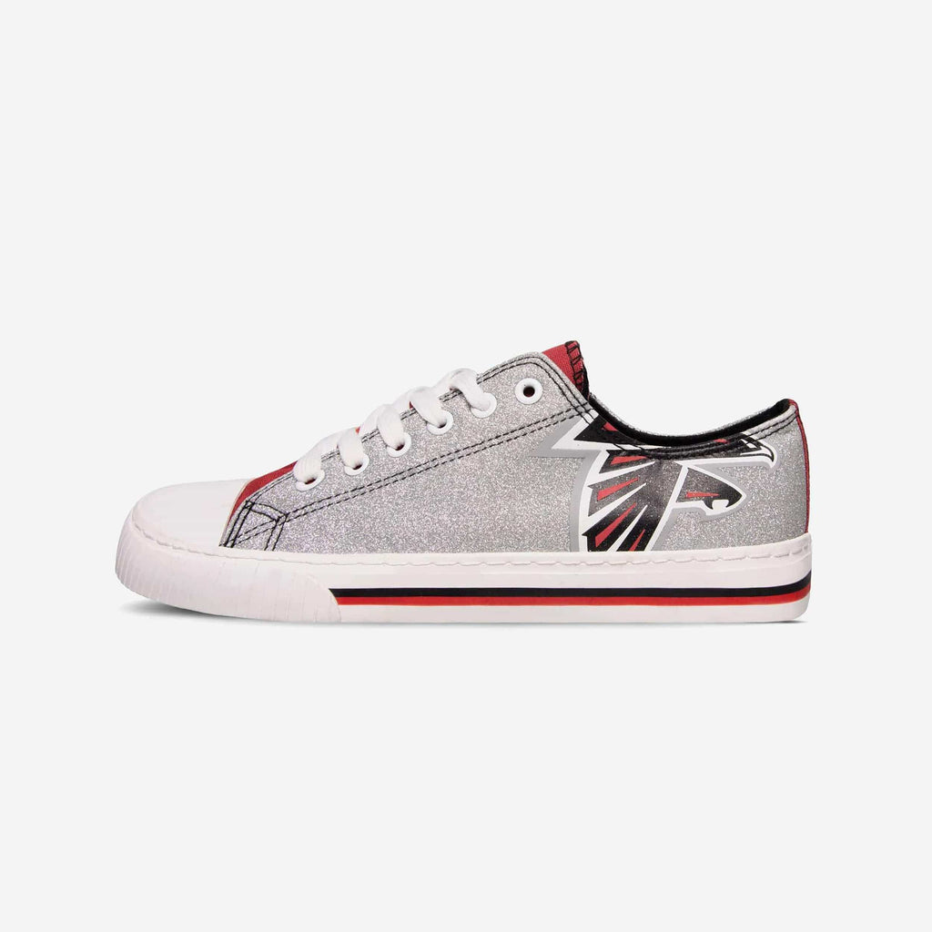 Atlanta Falcons Womens Glitter Low Top Canvas Shoe