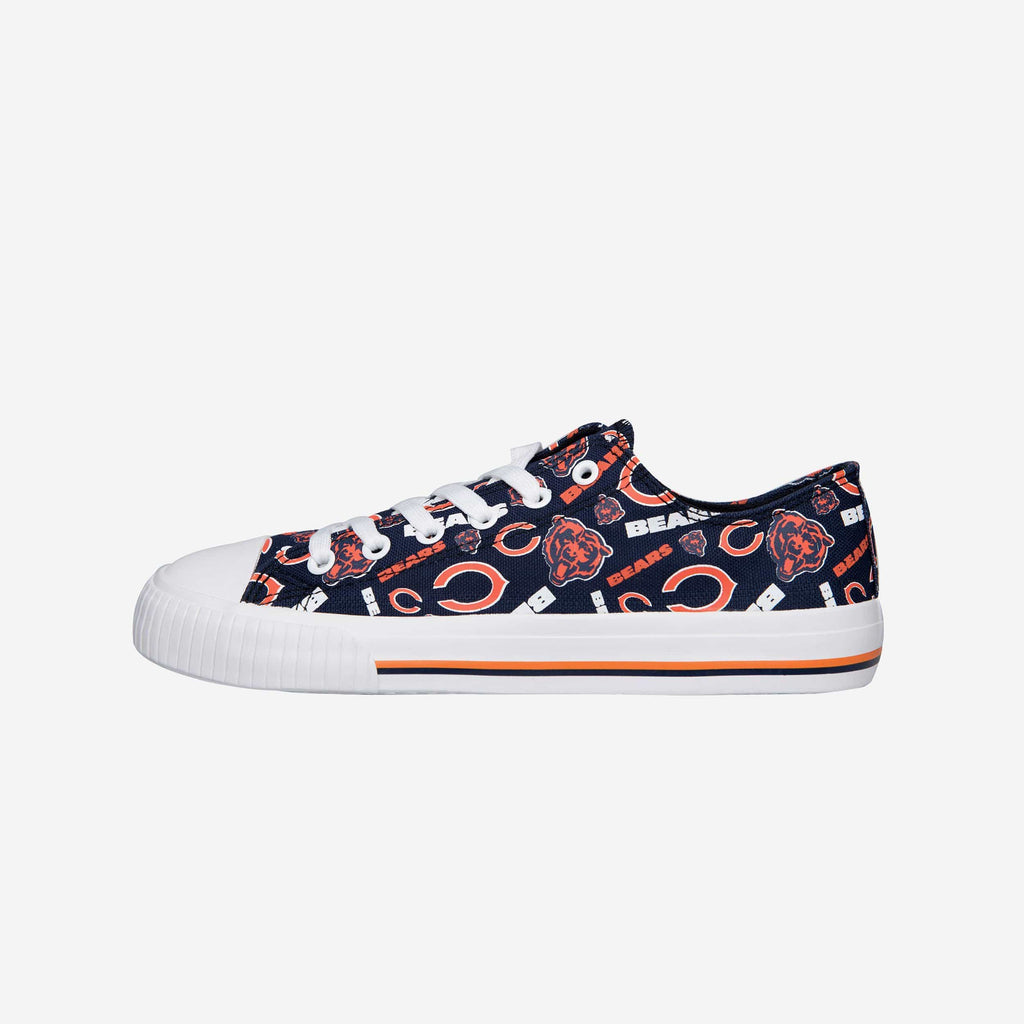Chicago Bears Womens Low Top Repeat Print Canvas Shoe
