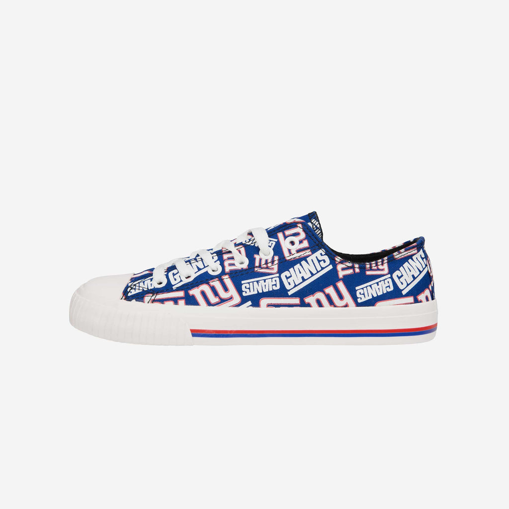 New York Giants Womens Low Top Repeat Print Canvas Shoe FOCO - FOCO.com
