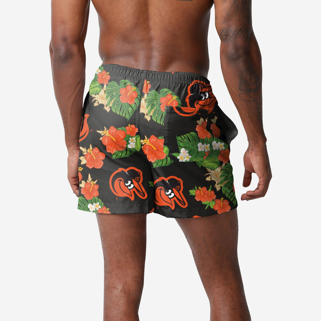 Baltimore Orioles Floral Swimming Trunks FOCO 2XL - FOCO.com