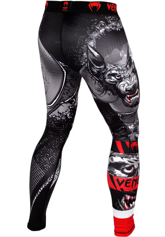 "Venum Compression Leggings ""Werewolf"" - Black/Gray"