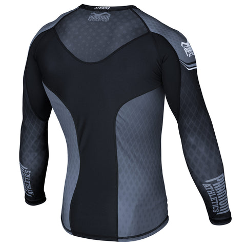 "Phantom Athletics Rashguard ""STORM Nitro"" - Black/Gray - Longsleeve"