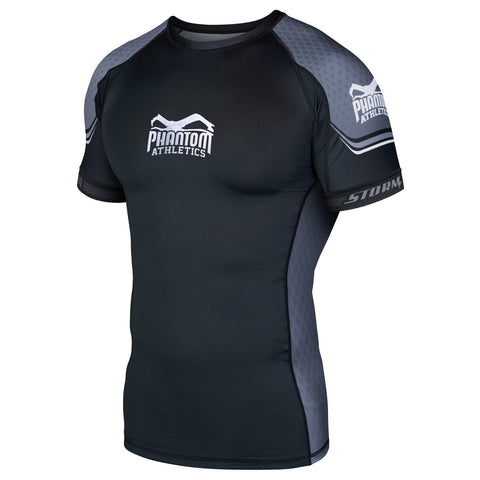 "Phantom Athletics Rashguard ""STORM Nitro"" - Black/Gray - Shortsleeve"