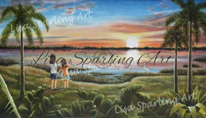 A Moment In Time Acrylic Lisa Sparling Original Commission Piece