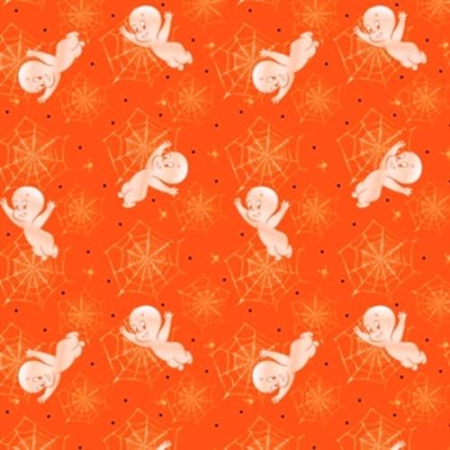 Quilting Treasures - Creepy Cute -Med Orange 1649-23947-O