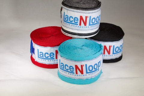 180 Inch Mexican Style Wrinkle Resistant Hand Wraps - Turquoise - Lace N Loop