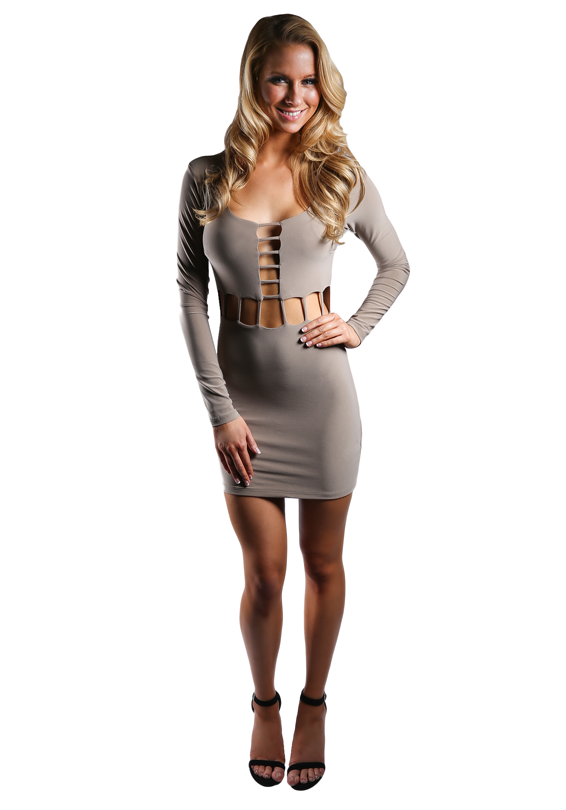 Long Sleeve Cutout Mini Dress