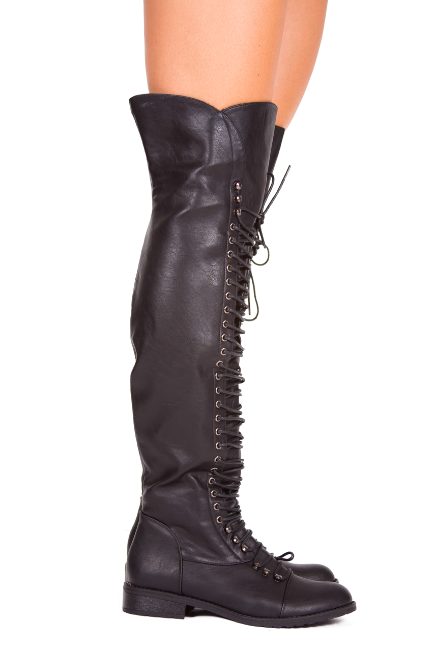Thigh High Flat Boots
