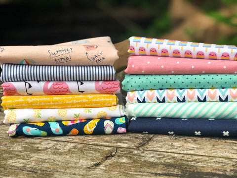 July Large Fat Quarter Bundle, Monthly Subscription Bundle | Weave and Woven