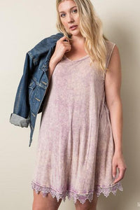 Acid Wash Tank in Mauve - Adventurista Boutique