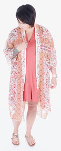 Long Floral Kimono - Adventurista Boutique