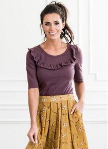 Mad About Ruffles Top in Purple - Adventurista Boutique