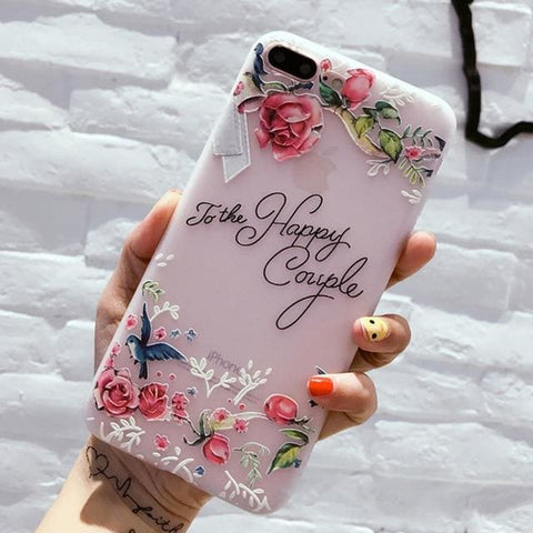 Flower Silicon Phone Case - 50% Off Today ! - 5618 / For iPhone 8