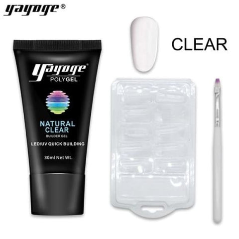 Girly Code Poly Gel Nail Kit - clear poly gel Set