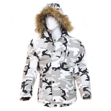 Jacket canada goose militaire Blanc B100