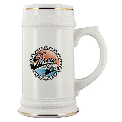 Brew and Feed 22oz Beer Stein