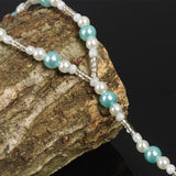 Blue Pearls Barefoot Sandal