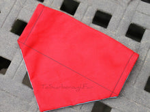 Reversible Hipster Foxes Red - Slip On Over Collar Dog Bandana