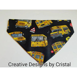 School Bus Dog Bandana (Over the Collar)