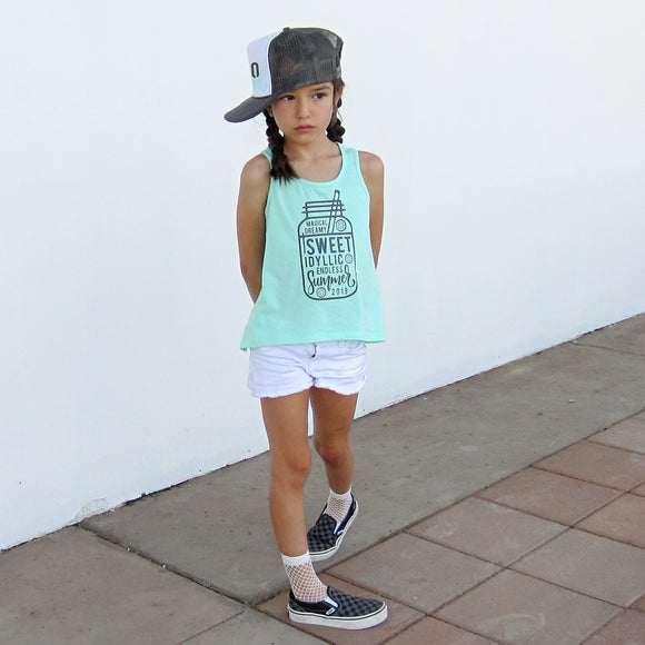 SWEET SUMMER High Low Kids Tank Top - FABVOKAB