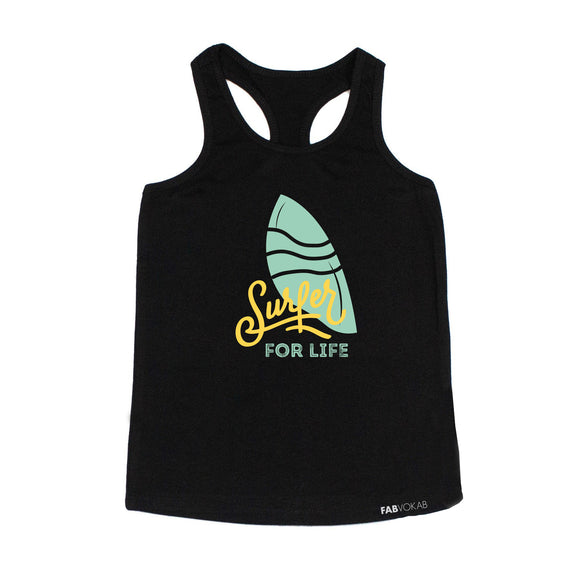 SURFER FOR LIFE Kids Tank Top - FABVOKAB