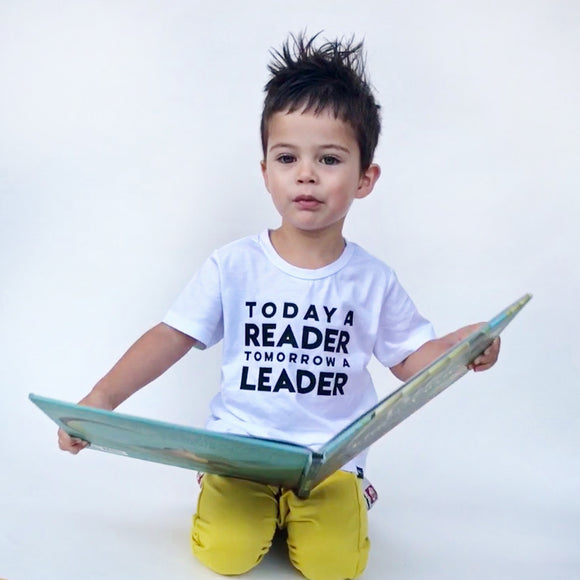 TODAY A READER TOMORROW A LEADER Short Sleeve T-shirt - FABVOKAB
