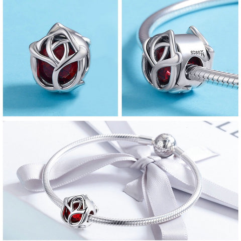 Image of Bracelet charm - rose design