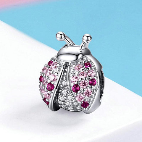 Pink dotted Ladybird Charm