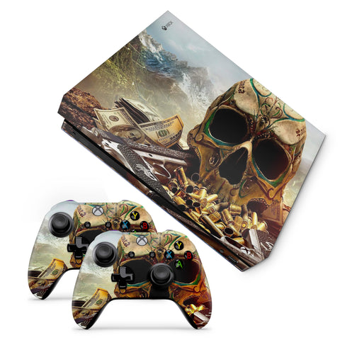 Xbox One X  Guns & Skull Design