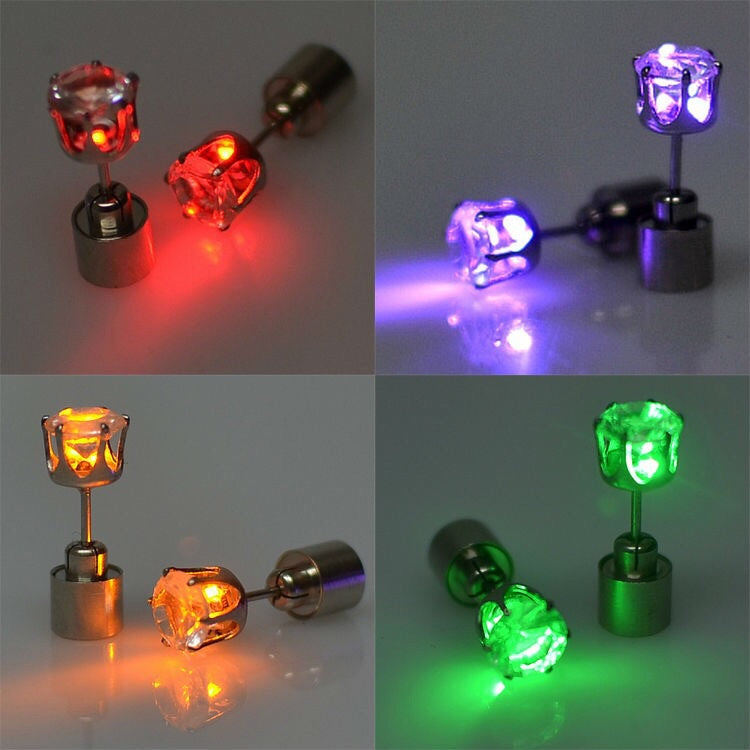 LED Flashing only or Steady only Earrings