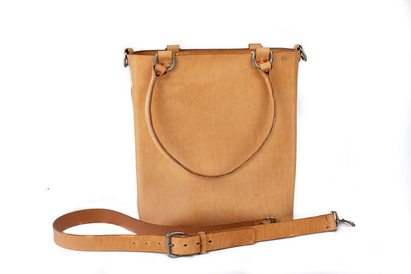 H+B Everyday Tote | Premium Edition | Russet Leather Tote Bag