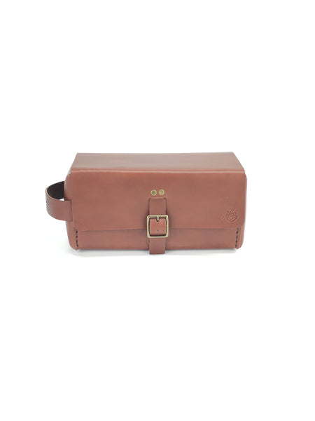 H+B LARGE DOPP KIT  | SEDONS BROWN LEATHER