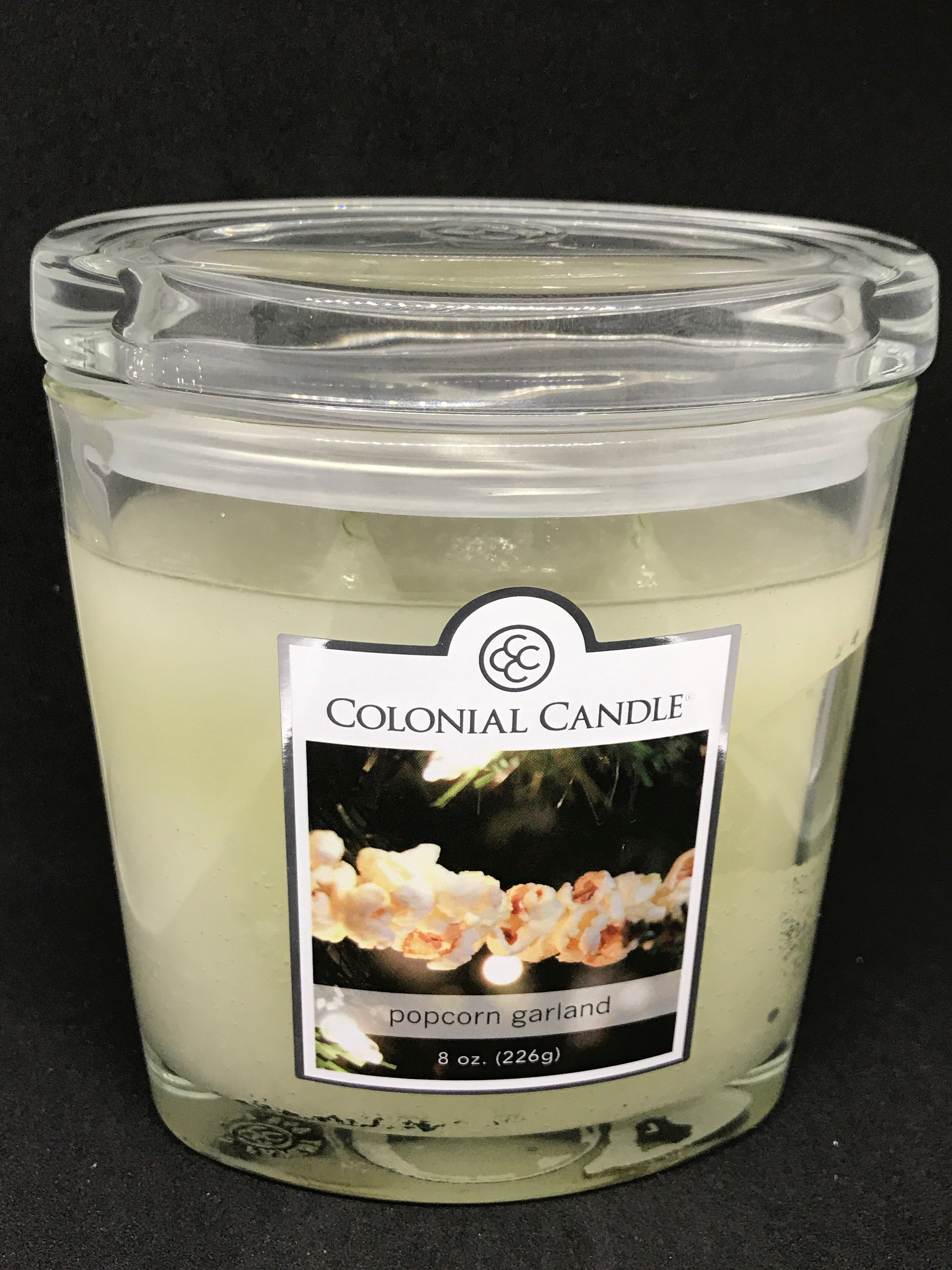 Popcorn garland jar Candle etc - Mountain View Candle Works