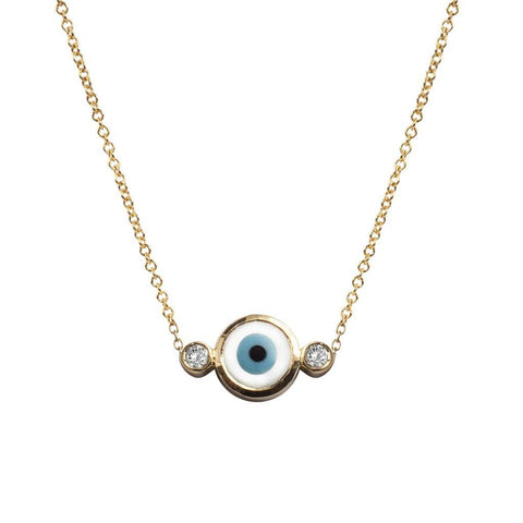 Baroque Grey Pearl Gold Diamond Necklace